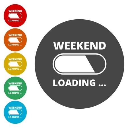 Weekend Coming - Design Concept, carico fine settimana Archivio Fotografico - 77538825