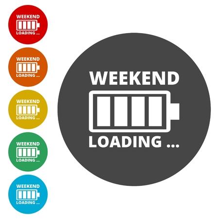 Weekend Coming - Design Concept, carico fine settimana Archivio Fotografico - 77413551