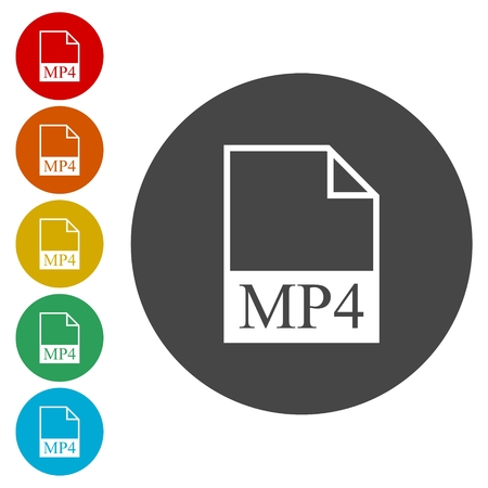 avi: MP4 file icon Illustration