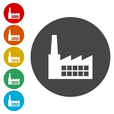 Factory icon Stock Vector - 77686419