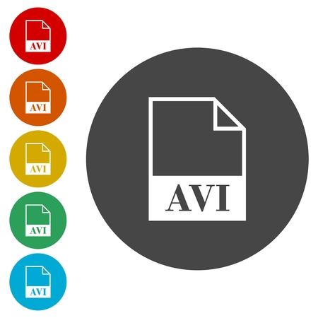 avi: AVI file icons set