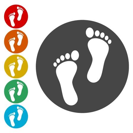 Two footprint Illustration