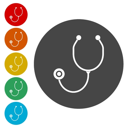 stetoscope: Stethoscope icons set