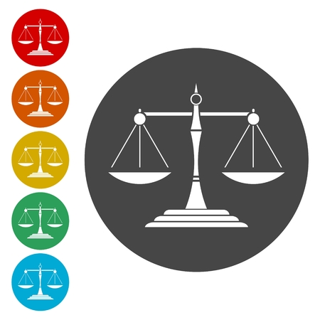 사법 저울 아이콘