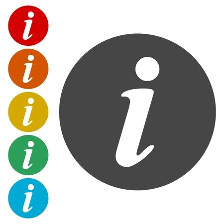 italics: Information icons set