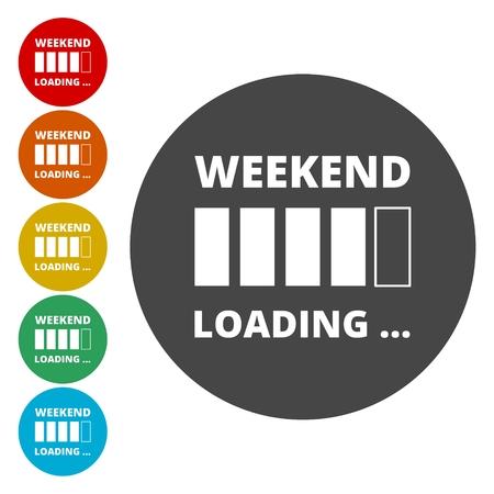 Weekend Coming - Design Concept, carico fine settimana Archivio Fotografico - 79243958