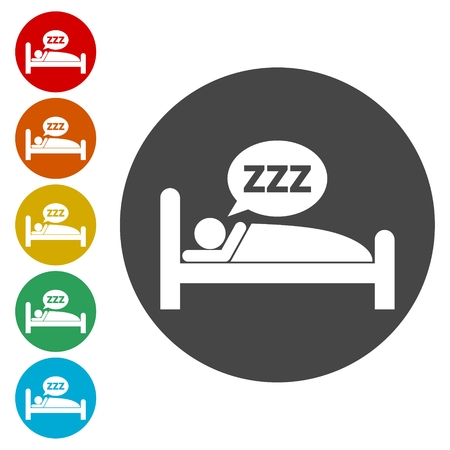 hazard: Sleeping symbol set