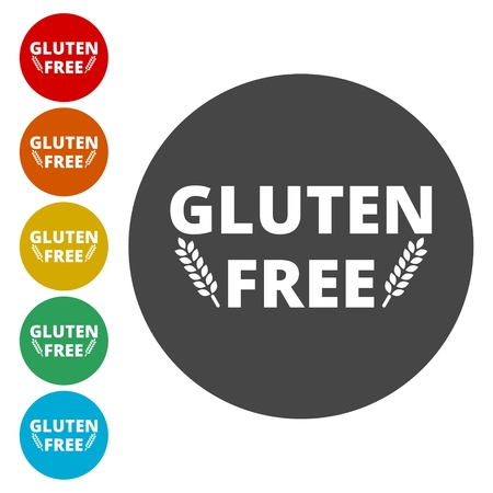 sprue: Gluten free icons set, vector illustration. Illustration