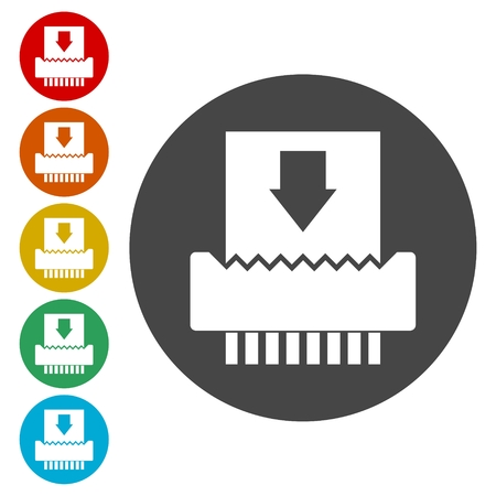 shredder: Paper Shredder Icons set
