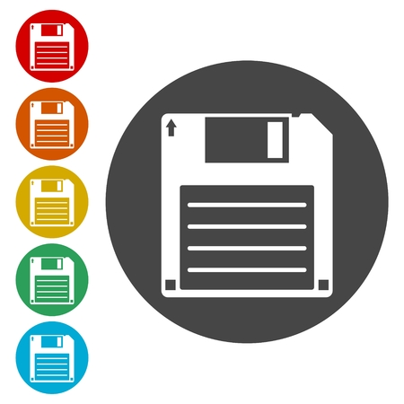 textfield: Magnetic floppy disc icon