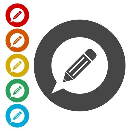 inet symbol: Blog icons set
