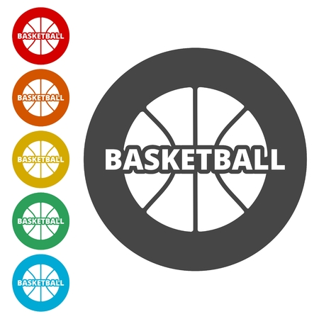 Basketbal pictogrammen instellen