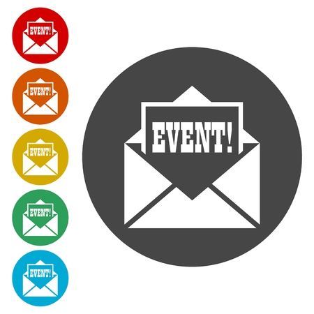 Event letter icons set