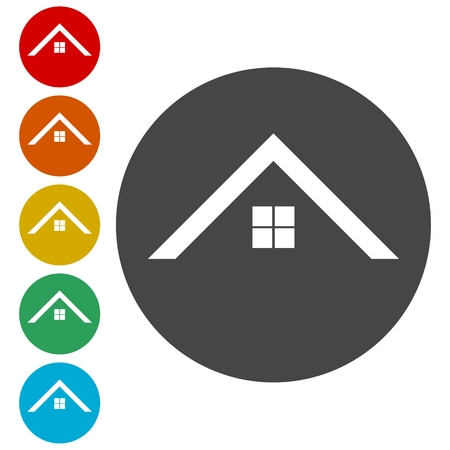 jpeg: Home roof icons set