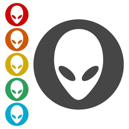 Iconos de la cabeza extranjera establecen Ilustración de vector
