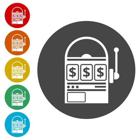 opportunity sign: Slot machine icons set