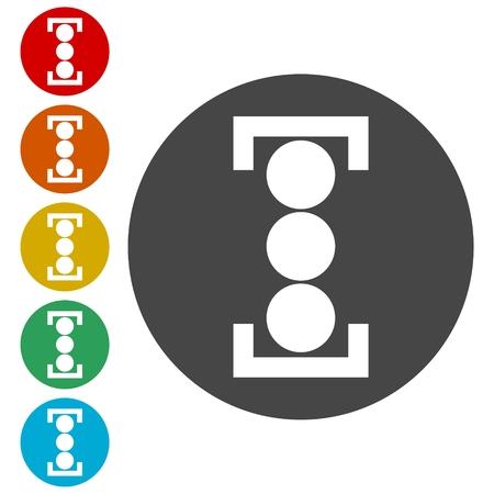 forbid: Vector image traffic light Illustration