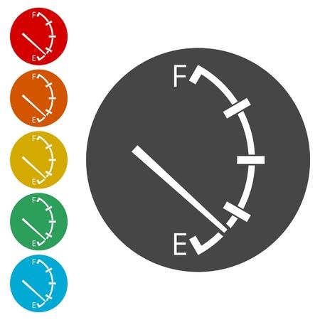 Fuel icon, Gas tank illustration