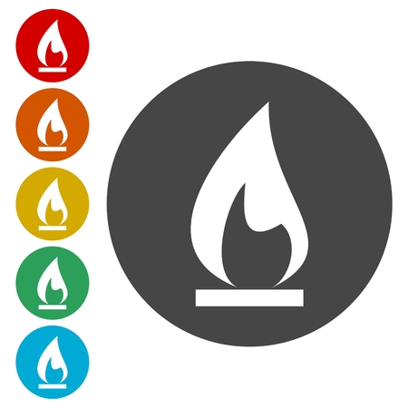 hazard: Gas Flame Icons set