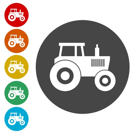 plow: Tractor vector icon