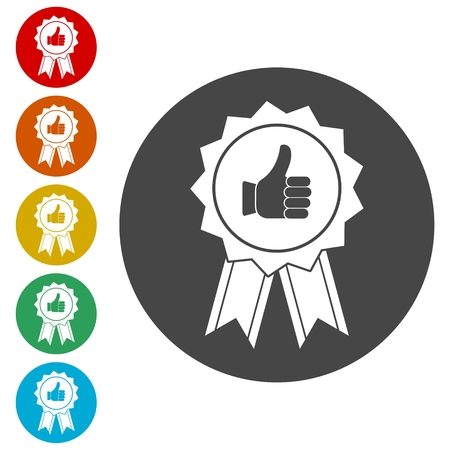Award Vector icons set