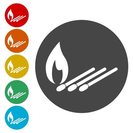 Match icons set vector illustration.