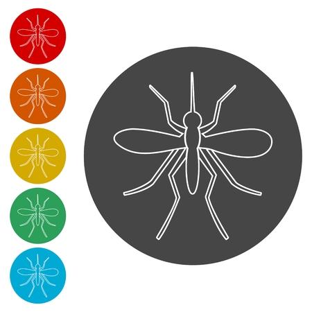 Mosquito icons set Illustration