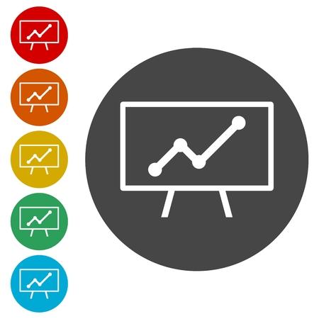 cultivate: Presentation - vector icons set Illustration