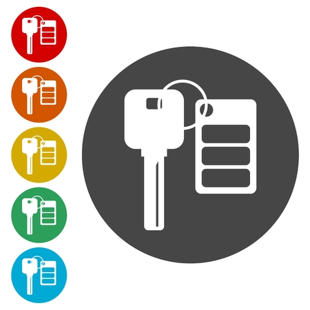 unlocking: Auto key with remote control icons set