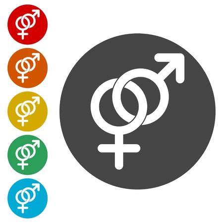 男性と女性のセックス シンボル セット