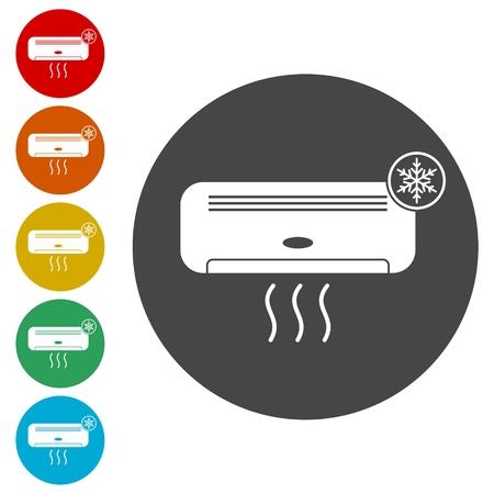 Air conditioner sticker set Illustration