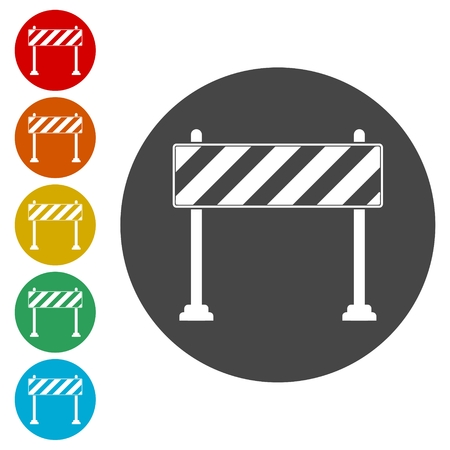 roadsign: Barrier icon, Roadblocks icons set
