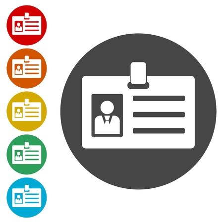 Führerscheinidentifikation, Presseausweis-ID oder Ausweissymbole gesetzt