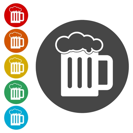 Beer Mug Vector Icons set, Beer icon