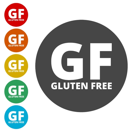 sprue: Gluten free Sign icons set vector illustration.
