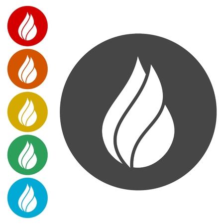 Fire - sign sticker set