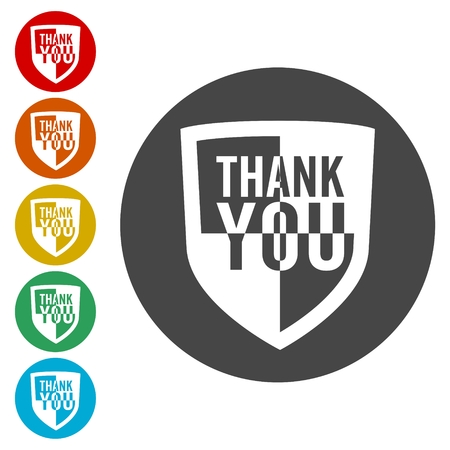 quality guarantee: Thank you, Shield sign Illustration