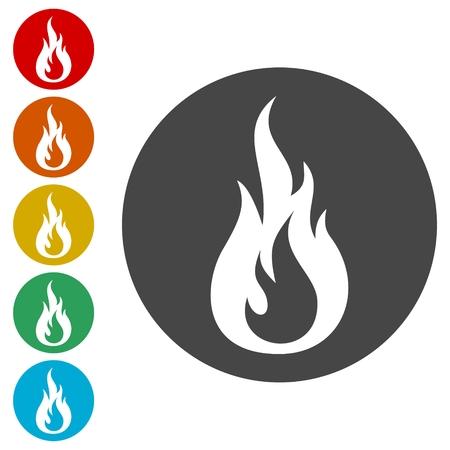 Simple fire icon, fire logo Ilustrace