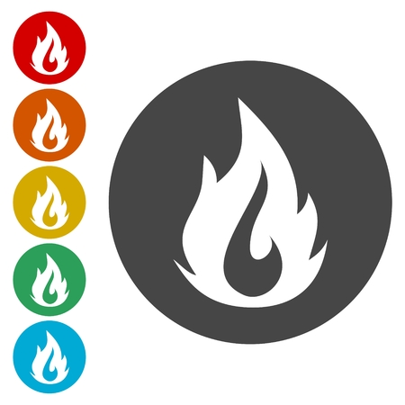 Simple fire icon, fire logo Illustration