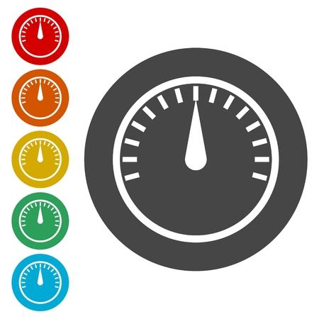 effectiveness: Gauge, meter templates. Pressure gauge, level concepts