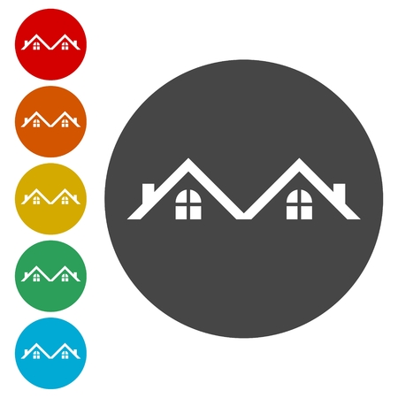 boiler: Roof Icon, Roof Icon Vector, Home roof icon