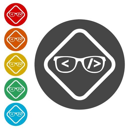 meta: Code flat icon