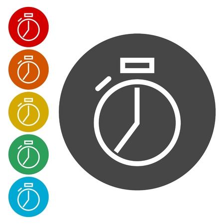 effectiveness: Vector stopwatch icon Illustration