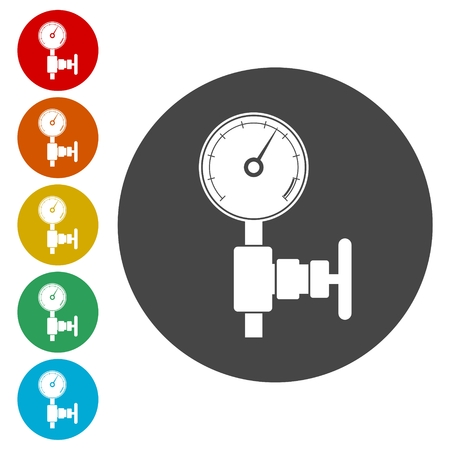 Manómetro (medidor de presión) y el indicador de vacío icono