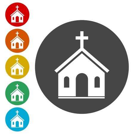 Vector chiesa icona Archivio Fotografico - 81916761