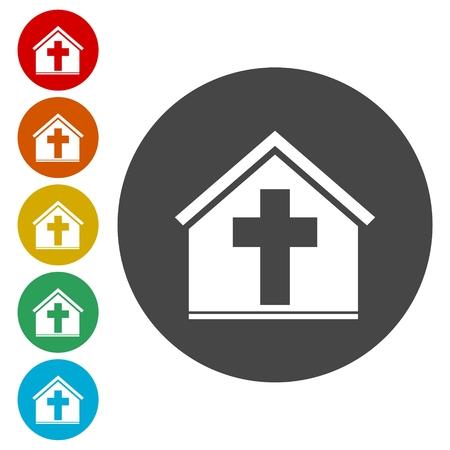 reverse: Vector church icon Illustration