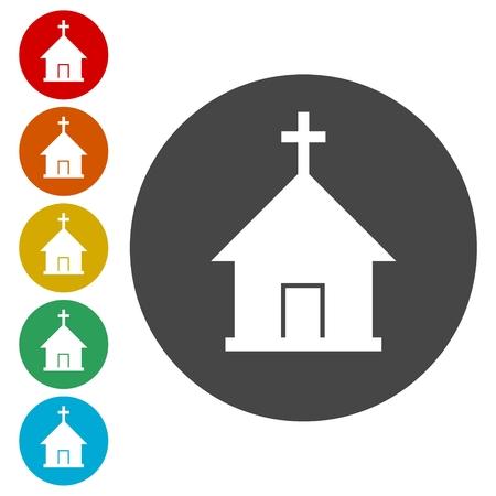 Vector chiesa icona Archivio Fotografico - 81916773