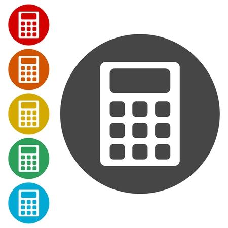 calculating: Calculator icon, vector illustration Illustration
