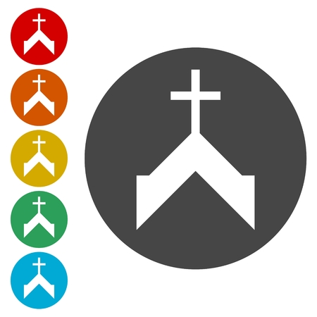 alter: Vector church icon Illustration