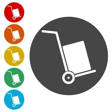 scotch: Handcart icon, vector icon Illustration